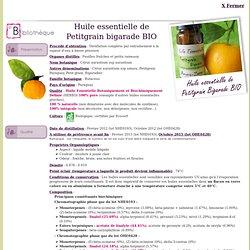 Petitgrain bigarade BIO - Citrus aurantium ssp aurantium