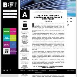De la bibliothèque numérique européenne à Europeana