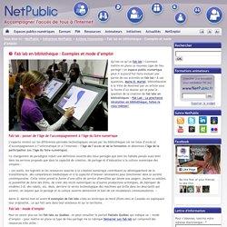 Fab lab en bibliothèque : Exemples et mode d'emploi