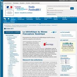La bibliothèque du Réseau Francophone Numérique