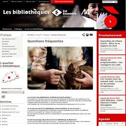 Bibliothèque de Montreuil:Questions fréquentes