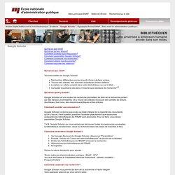 Bibliothèque > Google Scholar