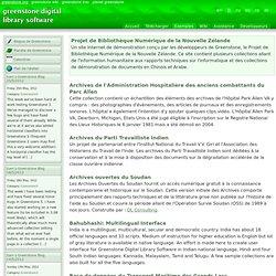 Logiciel de bibliothèque numérique Greenstone