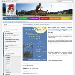 La bibliothèque à l'heure du conte - 2016 - Ville de Delémont