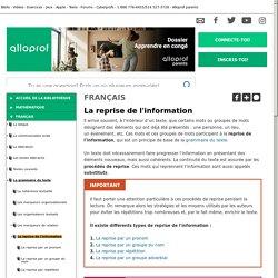 Bibliothèque virtuelle La reprise de l'information