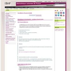 Bibliothèque du Haut-de-jardin : conditions d'accès et tarifs