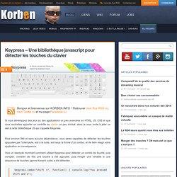 Keypress – Une bibliothèque javascript pour détecter les touches du clavier