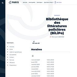 Bibliothèque des littératures policières (BiLiPo)