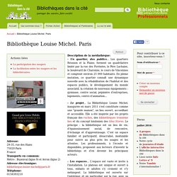 Bibliothèque Louise Michel. Paris
