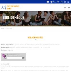 Bibliothèque – Lycée Josy Barthel Mamer