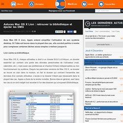 Astuces Mac OS X Lion : retrouver la bibliothèque et éjecter les DMG