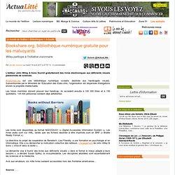 Bookshare.org, bibliothèque numérique gratuite pour les malvoyants ActuaLitté - Les univers du livre-Mozilla Firefox