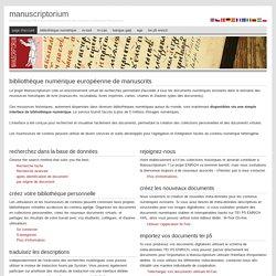 Bibliothèque Numérique Européenne de Manuscrits
