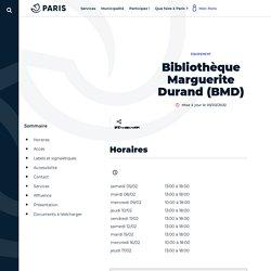 Bibliothèque Marguerite Durand (BMD) - Ville de Paris