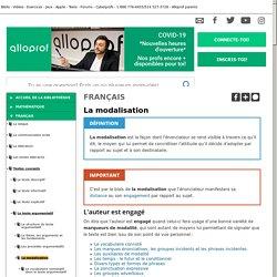 Bibliothèque virtuelle La modalisation