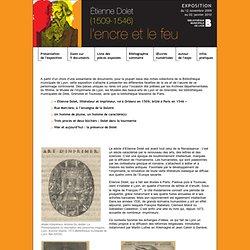 Exposition : Etienne Dolet (1509-1546) : l'encre et le feu