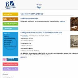 Catalogues et inventaires