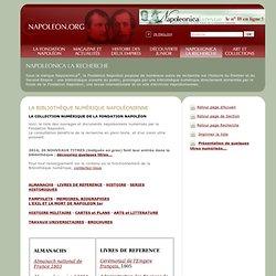 Bibliothèque numérique napoléonienne de la Fondation Napoléon, livre numérique, document numérisé, Histoire Premier Empire Thiers, thèse en ligne