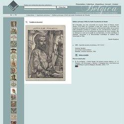 Belgica - Bibliothèque numérique de la Bibliothèque royale de Belgique - Edition princeps (1543) du traité d'anatomie de Vésale