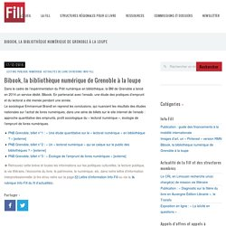Bibook, la bibliothèque numérique de Grenoble à la loupe