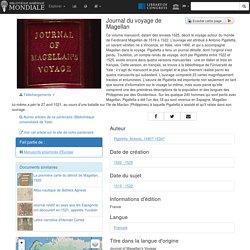 Journal du voyage de Magellan - Bibliothèque numérique mondiale [source]