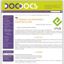 Proposer une bibliothèque numérique au CDI