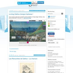 gallica - Un blog utilisant WordPress - BnF