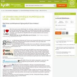 + de 100 000 livres numériques en ligne gratuit (MAJ 06 sept2013) - Mon classeur