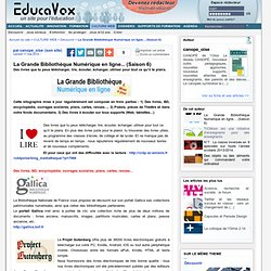 La Grande Bibliothèque Numérique en ligne... (Saison 6)