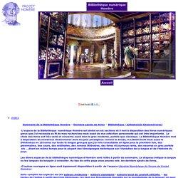 Bibliothèque numerique Homere, ebooks, livres grecs
