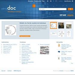 bibliothèque numérique RERO DOC