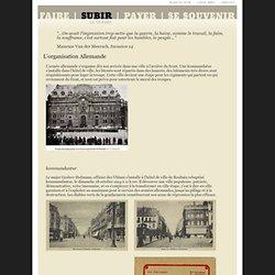 Bibliothèque numérique deRoubaix - L'organisation allemande