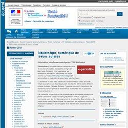 Bibliothèque numérique de revues suisses — Enseigner avec le numérique