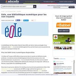Eole, une bibliothèque numérique pour les non-voyants