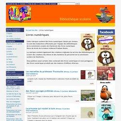 [Bibliothèque scolaire] : Livres numériques