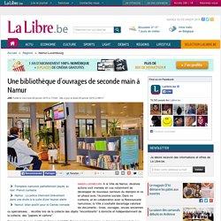 Une bibliothèque d'ouvrages de seconde main à Namur
