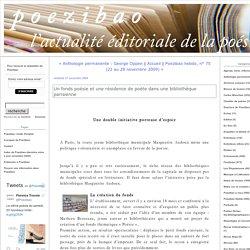 Un fonds poésie et une résidence de poète dans une bibliothèque parisienne