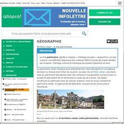 Bibliothèque virtuelle Territoire urbain : la ville patrimoniale