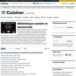 Bibliothèque scolaire et personnelle de livres de cuisine