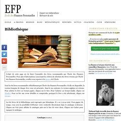 Bibliothèque – Ecole des Finances Personnelles