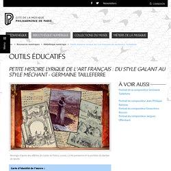 Bibliothèque numérique - Philharmonie de Paris - Pôle ressources - Petite Histoire lyrique de l'art français de Germaine Tailleferre (debug)