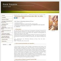 Bibliothèque Nationale de France (déc. 2003 - fév. 2004) - PourTolkien.fr - site de Vincent Ferré