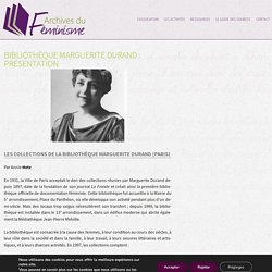 Bibliothèque Marguerite Durand : présentation
