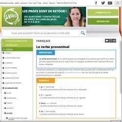 Bibliothèque virtuelle Le verbe pronominal