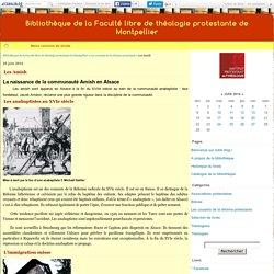 Les Amish - Bibliothèque de la Faculté libre de théologie protestante de Montpellier