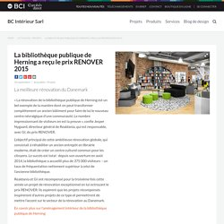 La bibliothèque publique de Herning a reçu le prix RENOVER 2015