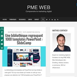 Une bibliothèque regroupant 1000 templates PowerPoint : SlideCamp