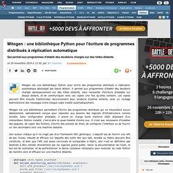 Mitogen : une bibliothèque Python pour l'écriture de programmes distribués à réplication automatique qui permet aux programmes d'établir des doublons chargés sur des hôtes distants