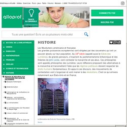 Bibliothèque virtuelle Les Révolutions américaine et française