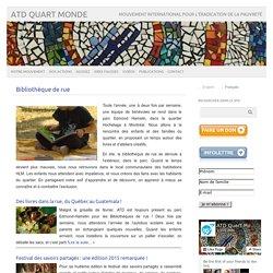 Bibliothèque de rue – ATD Quart Monde